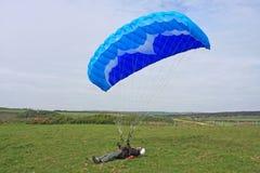 Paragliderjordbruk Royaltyfri Bild