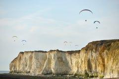 Paragliders Fotografia de Stock