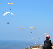 Paragliders. Sky Stock Photography