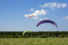 paragliders Obraz Royalty Free