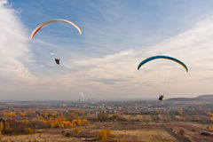Paragliders Stock Photo