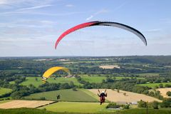 Paragliders Imagem de Stock Royalty Free