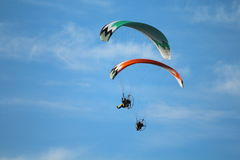 Paragliders Foto de Stock Royalty Free
