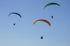 Paragliders in action Stock Photography