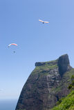 Paragliders Around Mountain Stock Photos