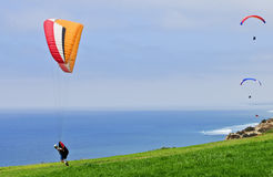 Paragliders,  California Royalty Free Stock Images