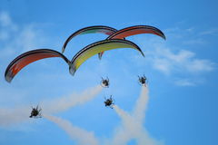 Paragliders Royalty Free Stock Photo