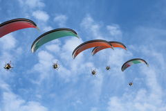 Paragliders Stock Photography