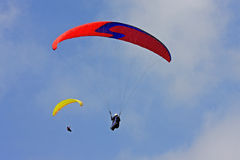Paragliders Stock Images