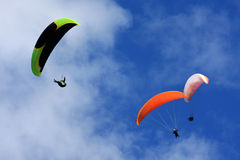 Paragliders Stock Image