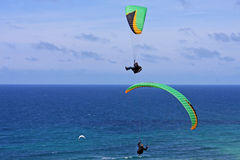 Paragliders Royalty Free Stock Images