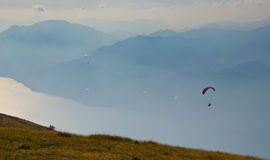 Paragliders Royalty Free Stock Image