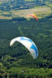 Paragliders in France Stock Photos