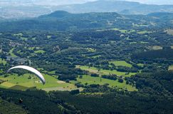 Paragliders in France Royalty Free Stock Photography