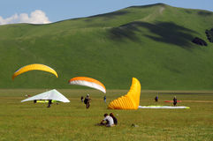 Paragliders Royalty Free Stock Photography