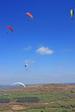 Paragliders over Dartmoor Royalty Free Stock Photo