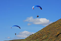 Paragliders over Rhossili Stock Photos