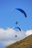 Paragliders over Rhossili Stock Image