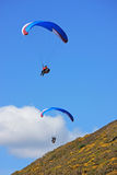 Paragliders over Rhossili Royalty Free Stock Photos
