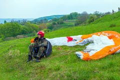 Paragliders paraglider pilot Royalty Free Stock Image