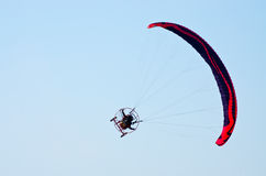 Paragliders show on Radom Airshow, Poland Stock Image