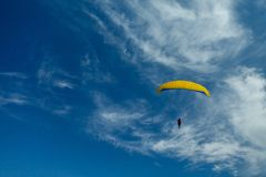 Paragliders in the sky Royalty Free Stock Image