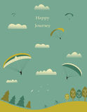 Paragliders on sky. Para gliders on sky. Vector Royalty Free Stock Images