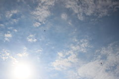 Paragliders in the sky 3 Stock Photo