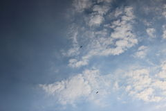 Paragliders in the sky 4 Stock Images