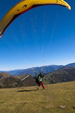 Paragliders at the top of Monte Baldo Royalty Free Stock Photo