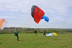 Paragliderslansering Arkivbild
