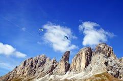 paragliding доломитов Стоковое Изображение RF