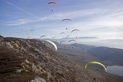 paragliding конкуренции Стоковое Изображение