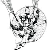 Paragliding. Sports adrenalin illustration Royalty Free Stock Photography