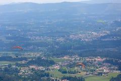 paragliding fotografie stock libere da diritti