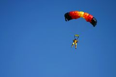 Paragliding. Pilots in the air Stock Photos