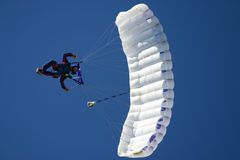 Paragliding. Cameraman in the air Stock Photo