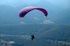 Paragliding. Brigh in Victoria Australia, is the ideal place for Paragliding Royalty Free Stock Image
