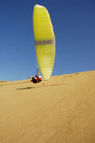 Paragliding. In the moroccan sahara desert Royalty Free Stock Image