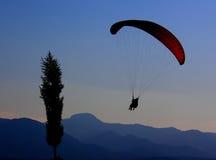 Paragliding Imagen de archivo libre de regalías