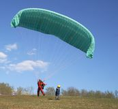 The paragliding Royalty Free Stock Photos