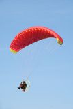 The paragliding. In the summer ski Royalty Free Stock Images