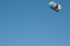 Paragliding. On a sunny day in Turkey Royalty Free Stock Photos