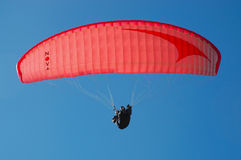 Paragliding. Bright in Victoria Australia is one of the great spots for Paragliding championships Royalty Free Stock Photo