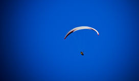 Paragliding. Flying in Dolomiti Mountains (Alps), Italy Royalty Free Stock Photos