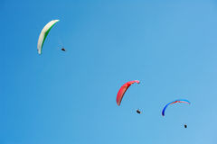 Paragliding. The paragliding in blue sky Royalty Free Stock Image