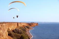paragliding Obrazy Royalty Free