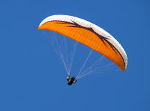 Paragliding. A paragliding athlet in action Royalty Free Stock Image