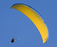Paragliding. Silhouette of para-glider on sky background Royalty Free Stock Image