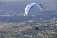 Paragliding. Aboua Cup, in the north of Portugal, Caldelas, Portugal stock photo
